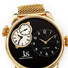 Joshua & Sons Mens Gold Tone Bracelet Watch-J-154ygb