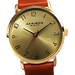 Akribos XXIV Womens Brown Leather Strap Watch-A-1087tn