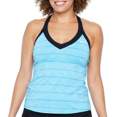 Nike Striped Tankini Swimsuit Top