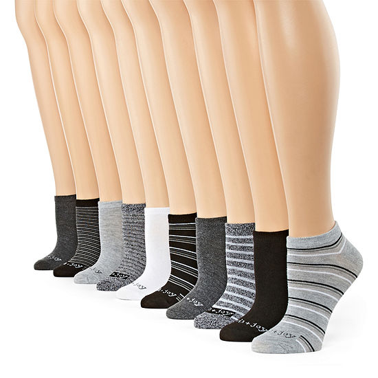 10 Pair Low Cut Socks Womens