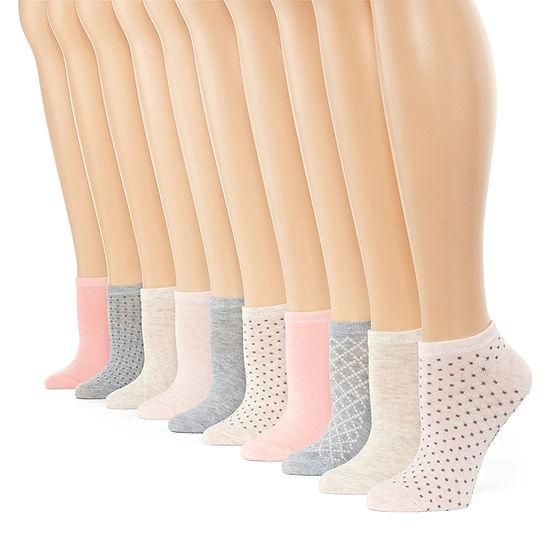 10 Pair Low Cut Socks - Womens
