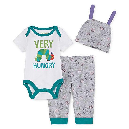 Eric Carle Boys 3-pc. Bodysuit Set-Baby
