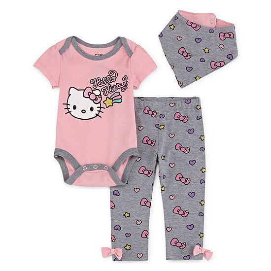 Hello Kitty Hello Kitty 3-pc. Pant Set Baby Girls