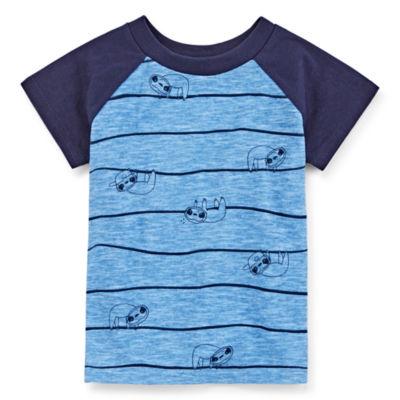 Okie Dokie Boys Crew Neck Short Sleeve Graphic T-Shirt Baby