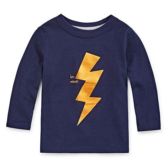 Okie Dokie Boys Crew Neck Long Sleeve Graphic T-Shirt - Baby