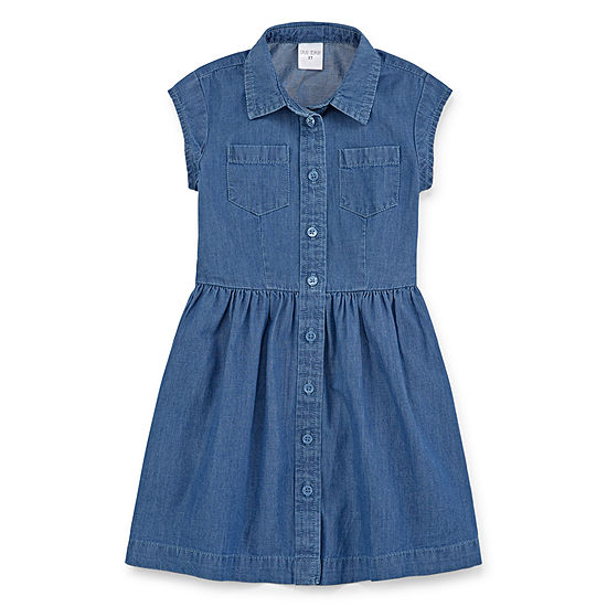 Okie Dokie Girls Short Sleeve - Toddler Shirt Dress