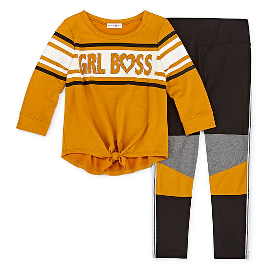 Knit Works Girls 2-pc. Legging Set Preschool / Big Kid