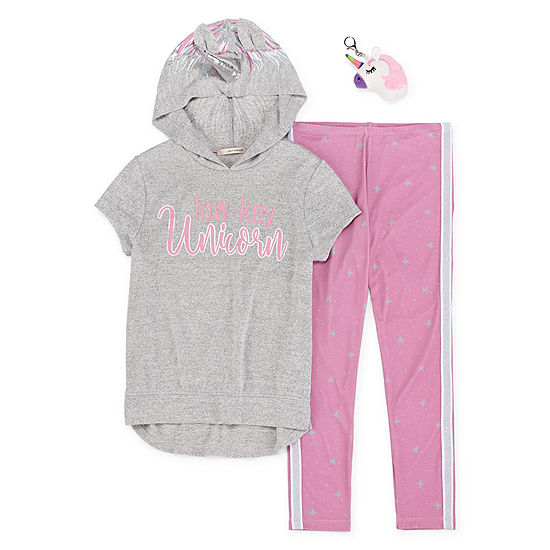 Self Esteem Girls 2-pc. Legging Set Preschool / Big Kid