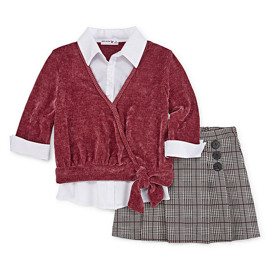 Knit Works Dress Sets Girls 2-pc. Skirt Set Big Kid