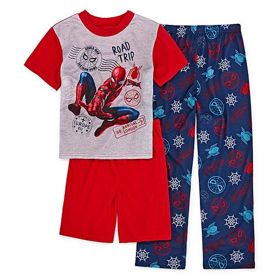 Little & Big Boys 3-pc. Spiderman Pajama Set