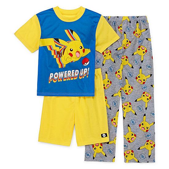Little & Big Boys 3-pc. Pokemon Pajama Set