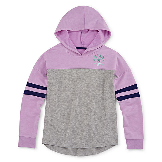 Xersion Girls Hooded Neck Long Sleeve Hooded Tunic Top Preschool / Big Kid