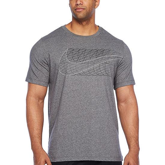Nike Mens Crew Neck Short Sleeve Moisture Wicking T-Shirt-Big and Tall