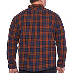 Levi's Big and Tall Mens Long Sleeve Plaid Button-Front Shirt