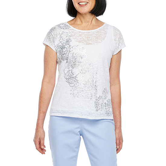 Hearts Of Palm Natural Wonders-Womens Crew Neck Short Sleeve T-Shirt