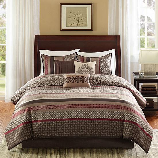 Madison Park Dartmouth 7 Pc Jacquard Comforter Set