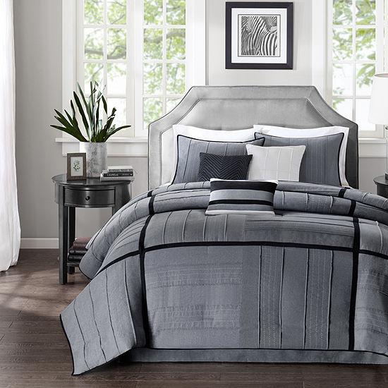 Madison Park Riverside 7-pc. Herringbone Comforter Set