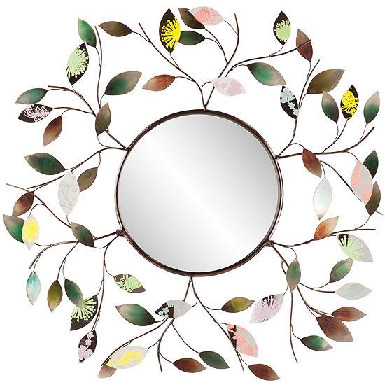 Briar Leaf Round Wall Mirror