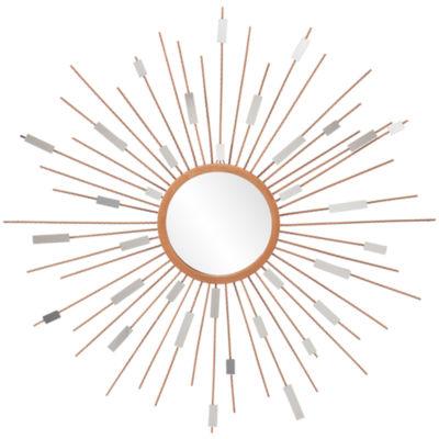 Stellar Starburst Round Wall Mirror