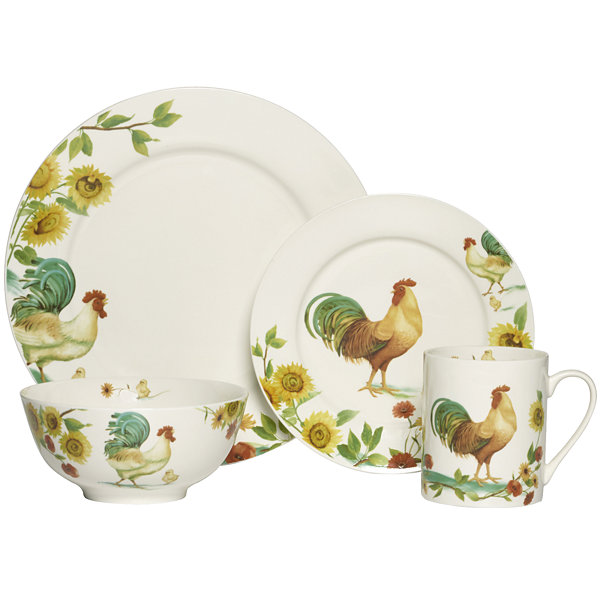 Pfaltzgraff® Rooster Meadow 16-pc. Dinnerware Set  sc 1 st  JCPenney : chicken tableware - pezcame.com