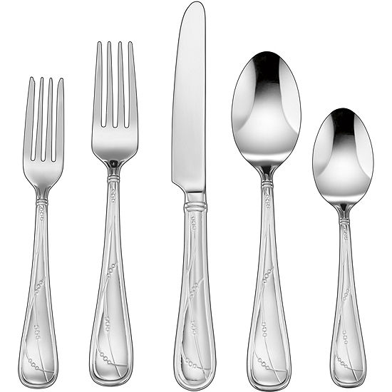 Cuisinart® Cacile 45-pc. Stainless Steel Flatware Set
