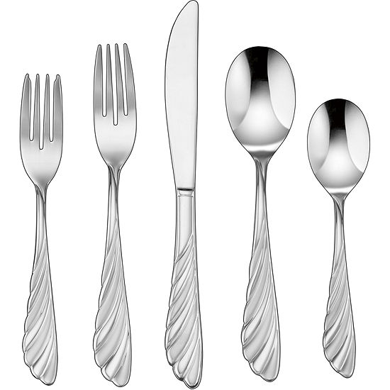 Cuisinart® Abelle 45-pc. Stainless Steel Flatware Set