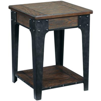 "Deerfield Distressed Oak 26"" Square End Table"