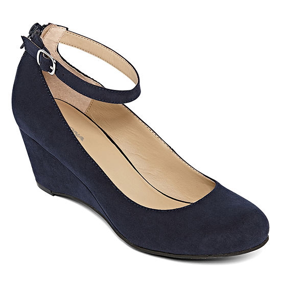 043b9480825f Arizona Laflin Ankle Strap Wedge Pumps JCPenney
