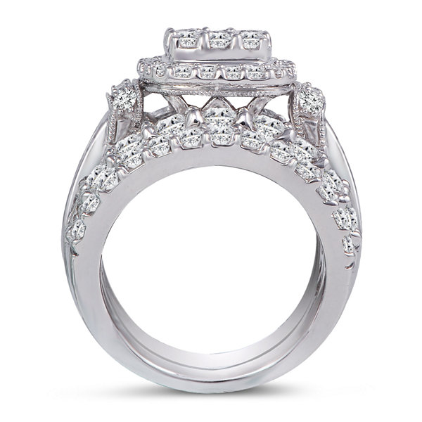 5 CT. T.W. Diamond 14K White Gold Engagement Ring