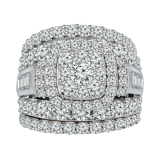 5 CT. T.W. Genuine Diamond 14K White Gold Engagement Ring