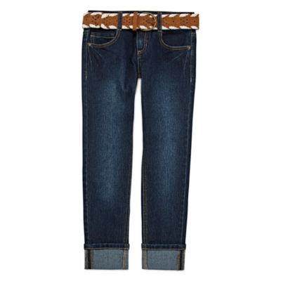 Arizona Belted Cuffed Ankle Pants - Girls 7-16