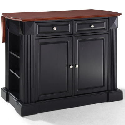 Amberly Bar-Top Drop-Leaf Kitchen Island