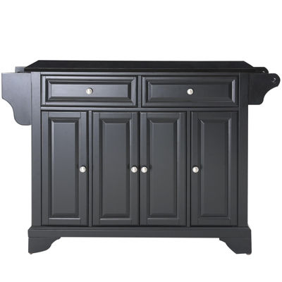 Chatham Black Granite-Top Kitchen Island