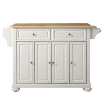 Caldwell Natural Wood Top-Kitchen Island