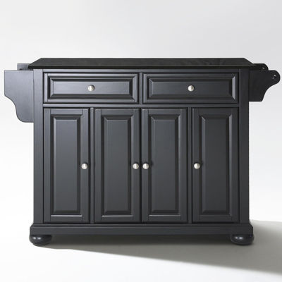 Caldwell Black Granite Top-Kitchen Island