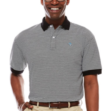 Biscayne Bay Short-Sleeve Horizontal Stripe Polo