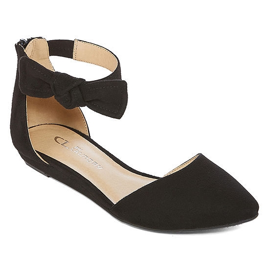 CL by Laundry Womens Stacia Ballet Flats Zip Pointed Toe