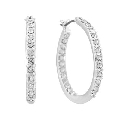 Gloria Vanderbilt Clear Hoop Earrings