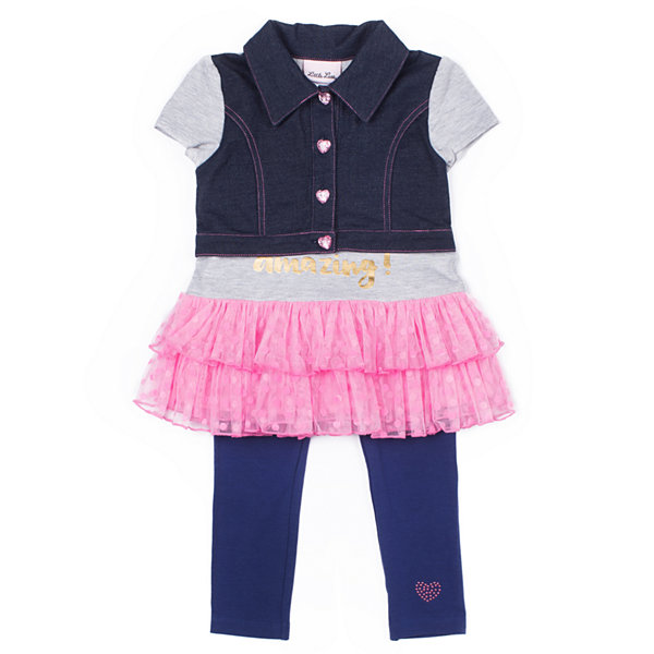 Little Lass 2-pc. Denim Legging Set Baby Girls