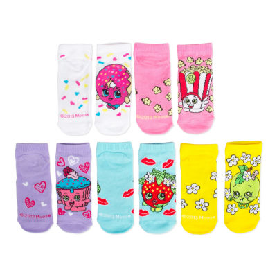 Girls 5 Pair No Show Socks