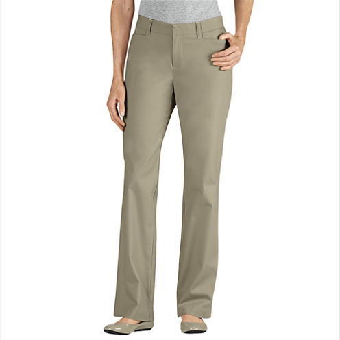 Dickies® Curvy-Fit Straight-Leg Stretch Twill Pants