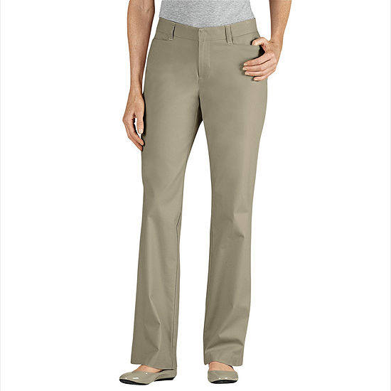 Dickies® Women's Curvy Fit Straight Leg Stretch Twill Pants