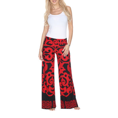 White Mark Geometric Palazzo Pants