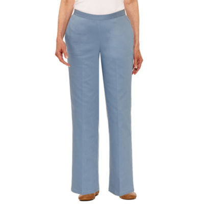 Alfred Dunner Blue Lagoon Woven Pull-On Pants-Petites