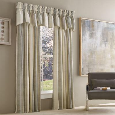 Queen Street Vaughn Stripe Rod-Pocket Curtain Panel