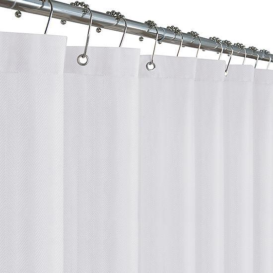 Maytex Mills Waterproof Herringbone Shower Curtain Liner