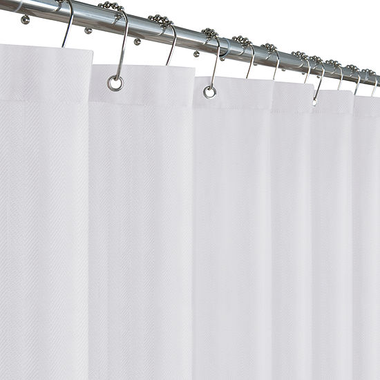 Maytex Mills Waterproof Herringbone Shower Curtain Liner
