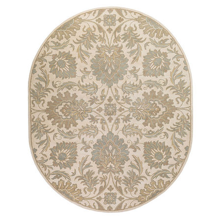 Decor 140 Vitrolles Hand Tufted Oval Indoor Rugs, One Size , Beige