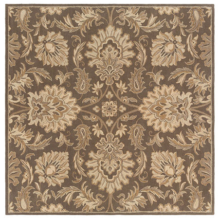 Decor 140 Vitrolles Hand Tufted Square Indoor Rugs, One Size , Brown