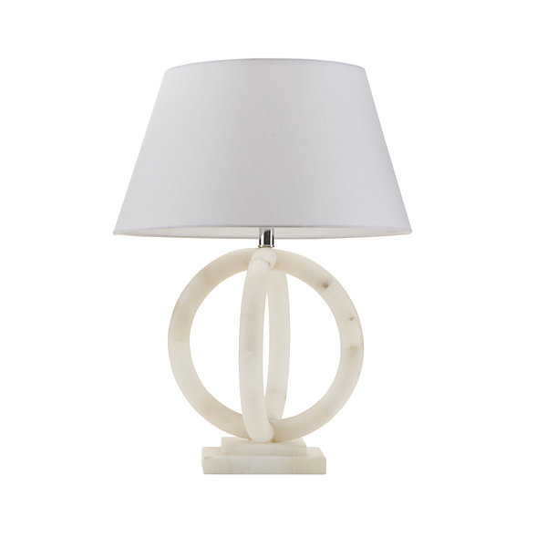 Madison Park Signature Cerc Alabaster Table Lamp